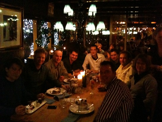 Top 5 partnerdag 2009 - diner in Restaurant Linke Loetje te Schagen