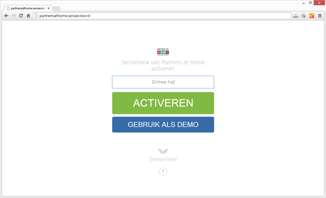 Online uw SenseView activeren....