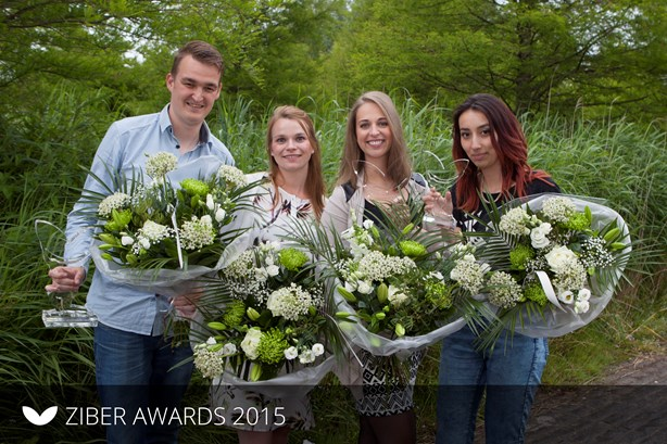 Ziber Awards 2015 - William, Petra, Melissa en Brenda,
