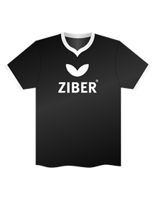 Ziber Shirt Black/White